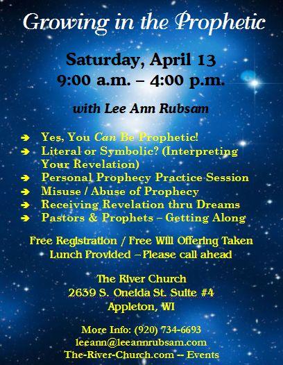 Growing in the Prophetic Flyer